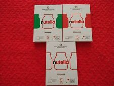 Nutella trittico 5 € 2021 argento verde rossa e bianca
