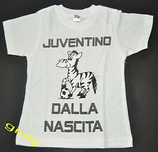 MAGLIA JUVENTUS bimbo neonato 0/2 anni JUVENTINO DALLA NASCITA t-shirt Juve mesi