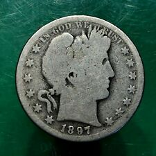 Key Date 1897-S U.S. Barber Half Dollar