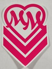 Metal Mulisha GIRLS CHEVRON SMALL Pink White MM Heart Logo 4Pc Sticker