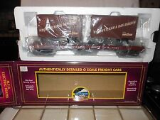 MTH PREMIER 20-98104 PENN FLAT WITH TRAILERS TRAIN CAR NIB RATED C9 FACTORY NEW