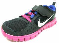 Nike Free Run 3 PSV Little Girls Shoes SZ 3Y Running Black Pink Mesh 512100 004