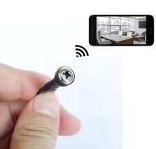 wireless Spy Micro pinhole Hidden Screw Camera WiFi IP Mini camcorder DVR record