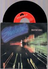 "SHAKATAK INVITATIONS + IN SHADOWS 1982 POLYDOR ITALY 7"" 45 GIRI"