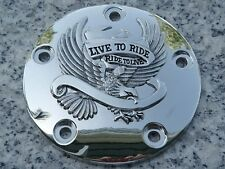 1999-2013 Harley Davidson Softail Dyna Touring CHROME EAGLE POINTS COVER