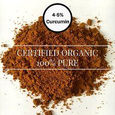 Turmeric Curcumin Powder CERTIFIED ORGANIC 50g Tumeric Ground Curcuma longa