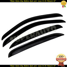 For 2007-2013 Chevrolet Silverado 1500+2500+3500 CrewCab Smoke Window Deflectors