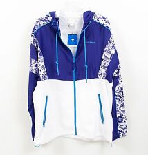 Adidas Originals Men's Two tone Graphic Jacket with Hood Sz M NEW
