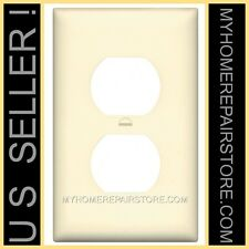 6 / $10 —UNBREAKABLE— STANDARD SIZE —IVORY— RECEPTACLE WALL PLATE —OUTLET COVER—