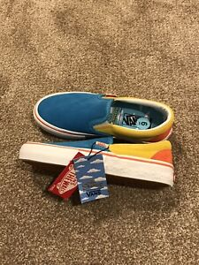 Vans x The Simpsons Slip-On Pro Blue & Yellow Size 6Y/ 7.5 Women
