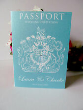 Sample Wedding Invitation Day Evening Reception Passport Flight Ticket Travel
