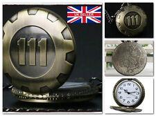New Vault 111 Chain Pocket Watch Fallout Pip Boy Nuka Cola *UK Seller*