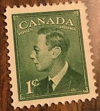 1950 CANADA STAMP 1 CENT GEORGE VI GREEN
