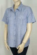 Plus Linen Button Down Shirt Tops & Blouses for Women