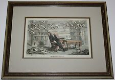 "The Doctors Dream 12.5"" x 9.75"" London Pub. Apr.1,1813 Framed Matted Under Glass"