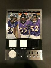 2012 Panini Football Stiches In Time Ed Reed, Suggs, Lewis 8/99