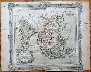Brion Original Kupferstich Karte China Thailand Indonesien Philippinen - 1768