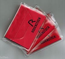 3x Rodenstock  Mikrofasertuch Brillenputztuch Microfaserputztuch(3 Stück in ROT)