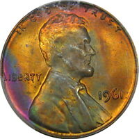 1961 1C PCGS MS66RB LINCOLN CENT ~ ELECTRIC ROLL-END COLOR & HIGH-END!