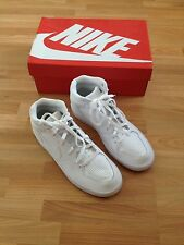 BNIB Men's White Nike Priority Mid High Top Leather Trainers-UK 9, EUR 44, US 10