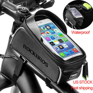ROCKBROS Cycling Bike Front Top Tube Frame Bag Waterproof Phone Holder Case 6.5""