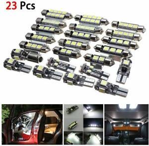 23pcs LED White Car Light Bulb Interior Map Dome Trunk License Plate Lamps Kit