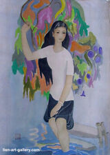 Fragile  Orig painting Thao Phuong Ta b1948 VUFA 1976 & another cheaper