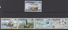 Los buques: anguila 1973 Colón Set + Ms sg159-63 + ms164 n.h.mint Se-tenant Tiras