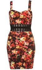 Motel Elly Bodycon Dress In Cherry Blossom Print - XS / UK 8 - New