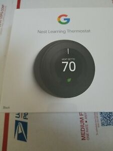 Google Nest 3rd Gen Learning Thermostat Stainless Steel T3007E0S *BRAND NEW!*
