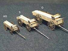 LUMBER WAGON S Sn3 Scale Model Railroad Structure Unpainted Wood Laser Kit GMLWS