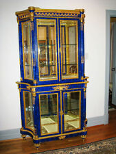 Antique French Lapis Vitrine