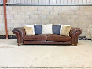 Tetrad Grand Degas Sofa in Leather hide & fabric FREE DELIVERY
