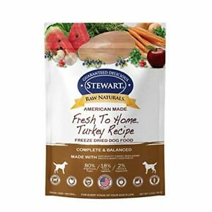 Stewart Raw Naturals Freeze Dried Dog Food Grain Free Made in USA with Turkey...