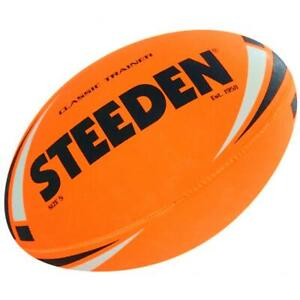 Steeden Classic Trainer NRl, Rugby League Football - Size 5 in Orange