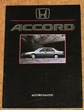 1986 Honda Accord (3rd Gen.) FOLLETO de ventas - 2.0 Exi, 2.0 ex Berlina