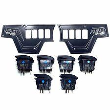 Black 2 Pc Polaris RZR XP1000 900S Dash Panel On/Off Rocker Switches Waterproof