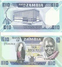 Sambia / Zambia - 10 Kwacha 1988 UNC - Pick 26e
