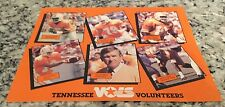1989 University of Tennessee VOLS Fact Sheet Full Page,Photo Coach Johnny Majors
