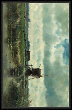 Polder landscape with windmill near Abcoude Willem Roelofs Mühle Faks_B 03455