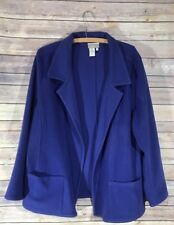 Coldwater Creek Size: XL  Blazer Lavender Purple Front Pockets Wool Cardigan
