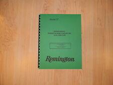 Remington Model 17 Shotgun Repair Manual - 13 Pages - #100