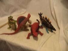 """Dinosaurus Trex Spinosurus Ankylosaurus, Stegasaurus 12""""+ lot of 4 Resist/rubber"""