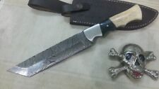 Custom Crafted KNIFE KING'S Damascus steel Tanto knife