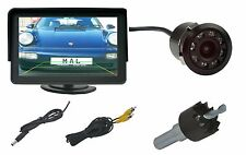"Rückfahrkamera 18mm Ø IR Nachtsicht LED´s & 4.3"" Monitor past für Lexus"