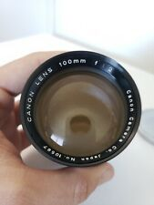 Canon 100mm F/2 Lens From JAPAN No.10567 Vintage Great Condition (See Pics)