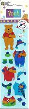 Disney Winnie the Pooh Stickers Scene Clothes Outfit Rain Garden Pajama Winter