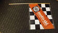 Vtg Moto-Ski Bombardier Snowmobile Promo Sales Checkered Flag Advertising