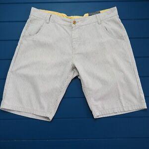 AD JEANS Mens Bermuda Shorts 100% Cotton Classic Fit Striped Size 36 VGC