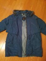 EUC Womens Elegance ocean green jacket with removable hood size 2XL